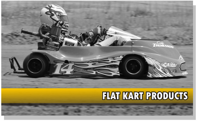 Graphics and decals for racing go-karts, oval flat karts
